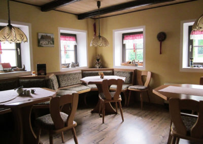 Pension Holzwurm Frühstücksraum